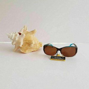 Foster Grant Sunglasses Brown Blue Polarized Embel
